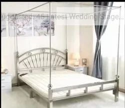 Polished Stainless Steel Beds, Bed Type: Double Bed, Size: 6x6, 6x4