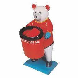 Fibre Bear Dustbin