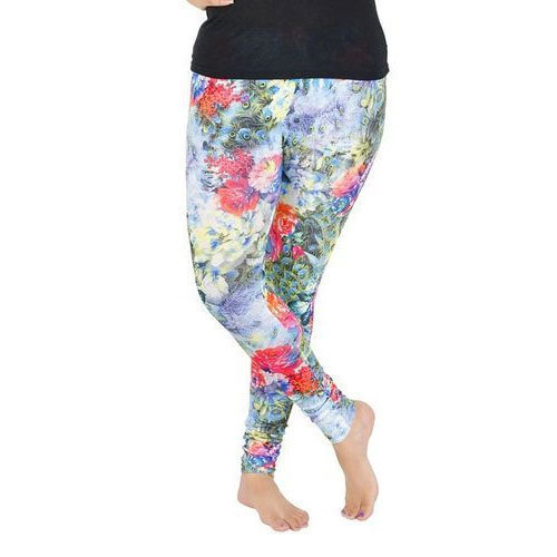 f0cf3f129d Cotton Party Wear Ladies Ankle Length Floral Print Legging, Size: Small,  Medium,