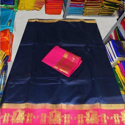 Multicolor Silk Kanjivaram Doli Saree, Length: 6.3 m (with Blouse Piece)