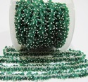 Genuine Emerald Dangling Beaded Chain