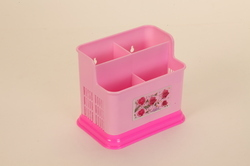 Pink Colored Cutlery Stand