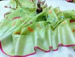 Handloom Banarasi Alfie Silk Sarees