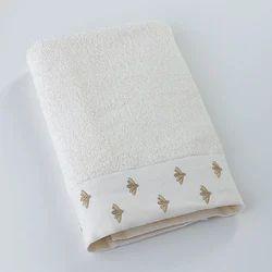 White Fancy Cotton Towel