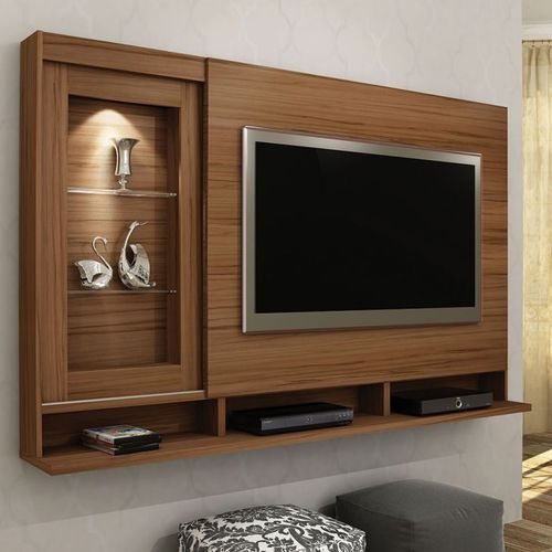Wooden Wall Units For Living Room: Wood Modern TV Wall Unit, Rs 650 /square Feet, Bajaj Glass