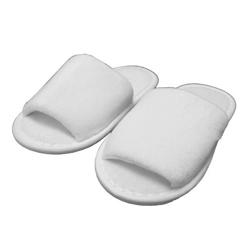 ad961de50d8c White Disposable Terry Towel Slippers