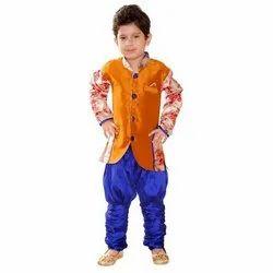 Party Wear Kids Printed Designer Sherwani