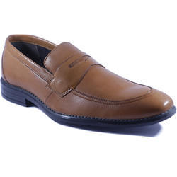 Hawkie Brown Mens Leather Loafer Shoe