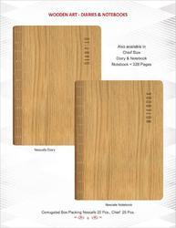Wooden Art Hard Bound Diaries, Size: Normal