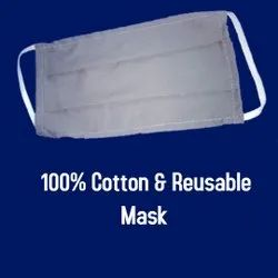 100 % Cotton Reusable Face Mask, Number of Layers: 3