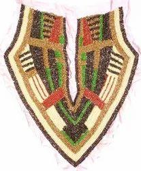 Traditional Beaded & Sequins Neckline