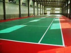AE Multi Color Badminton Court Flooring