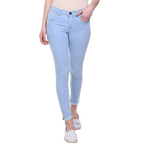 Stretchable Skinny Ladies Plain Jeans