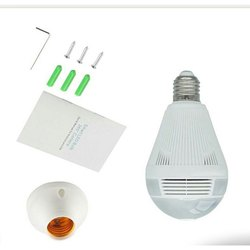 Wireless Wi-Fi Light Bulb Camera IP 360 Degrees 3D CCTV Camera White Nanny Camera V380