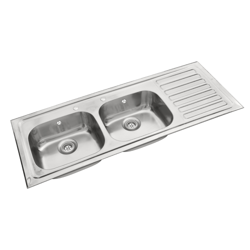 Double Kitchen Sink With Drainboard.Ss Double Bowl With Single Drain Board Sink