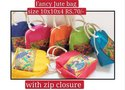 Short Cotton Padded Fancy Jute Bags, 10 X 10 X 4, Size/dimension: 10x10x4