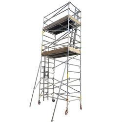 Aluminium Double Width Mobile Scaffold With Stair