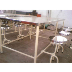 Stainless Steel Canteen Rectangular Table