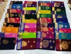 Silk Cotton Sarees, 6.3 m (with blouse piece)