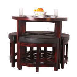 Eleganzze Compact Dining Table Set Rs 19000 Shreeji Furnitures Id 11376882973