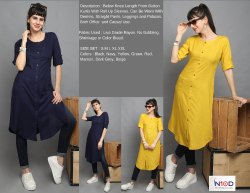 Below Knee Length Kurtis