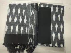 SAHELI'S COLLECTION Unstitched Cotton Ikkat Suit Set, Handwash