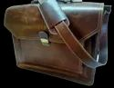 Expandable Leather Briefcase Bag