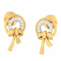 Classic Diamond Gold Earring