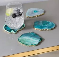 Agate And Quartz Coasters
