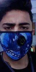 Blue Pollution Nose Mask