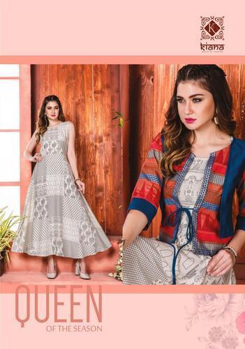 a69e786aab Designer Kurti - Nazam By Suvesh Muslin Kurtis Manufacturer from Surat