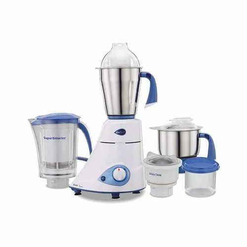 750 Watt White And Blue Preethi Mixer Grinder, Stainless Steel, For Home