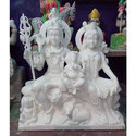 White Marble Shiva Family