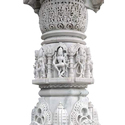 White Marble Pillar Statue
