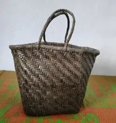 Casual Wear Military Green Woven Leather Tote Bag Yoco