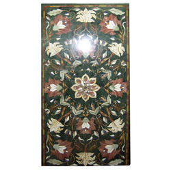 Mother of Pearl Mosaic Black Marble Coffee Table Top