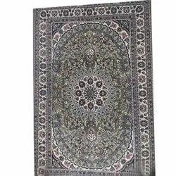 Rectangular Woolen Designer Kashmiri Floor Carpet