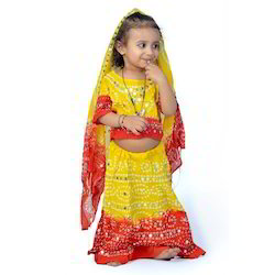 Jaipuri Bandhej Lehenga Choli Dress 119A