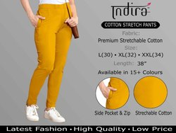 Indira Cotton Stretch Pants Stretchable Cotton Pant