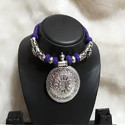 Oxdised German Purple Threaded Neckpiece
