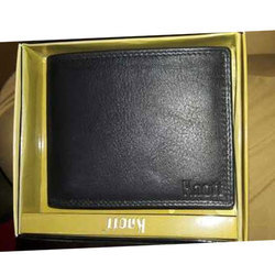 Mens Casual Black Leather Wallet