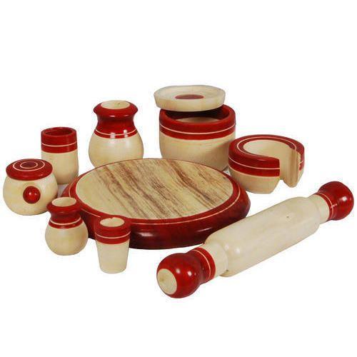 channapatna wooden kitchen set toy - Wooden Kitchen Set