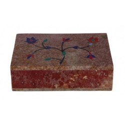 Soapstone Boxes With Inlay Work
