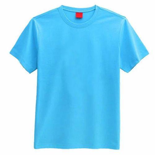 most popular pre order clear-cut texture Mens Blue T Shirt