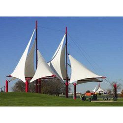 White Tensile Sail Structure
