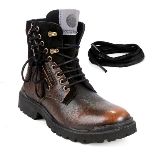 40e1bb80e2c Bacca Bucci Men's Earthkeepers Rugged/light Weight/bikers/combat High Top  Genuine Leather Tuff Boot