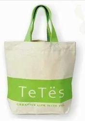 Eskay Loop Handle Cotton Canvas Bags, Packaging Type: Cartoon Pack, Size/Dimension: Custom