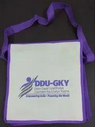 Shoulder Bag WHITE AND VOILET DDU-GKY SIDE BAGS, For College
