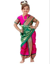 Printed Silk Marathi Nauvari Saree