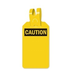 Caution Self- Fastening Tag